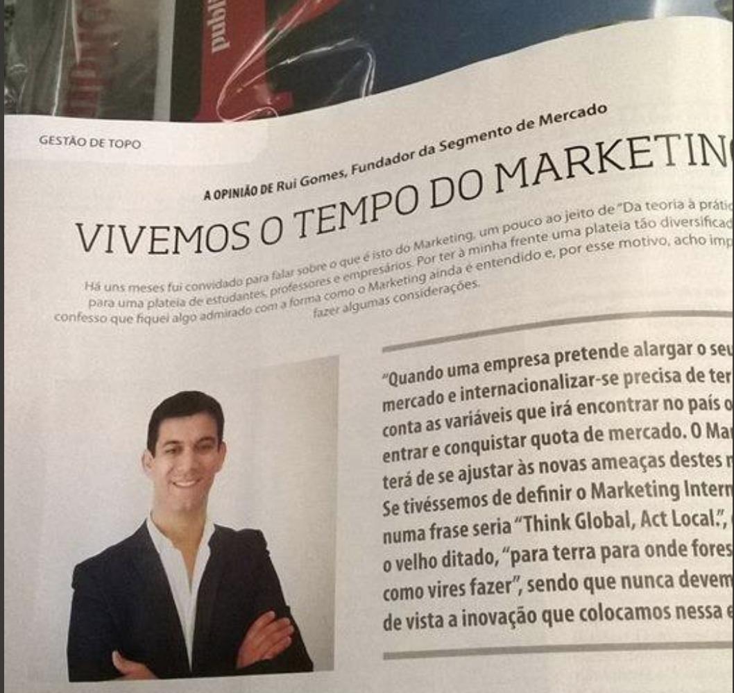 Rui Gomes na revista Pontos de Vista
